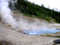 Yellowstone, WY - Boiling Pot in north Yellowstone