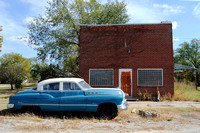 Elk Falls, KS - Old Car and Building