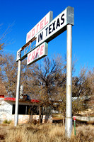 Glenrio, TX-NM - First In Last In Sign