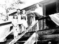 Foster Family at the Four 7s Cabin, 1952