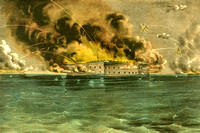 Bombardment of Fort Sumter, Charleston HarborApril12-13186CurrierIves