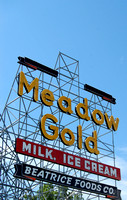 Tulsa, OK - Meadow Gold Sign Today - 3