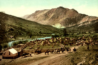 Round up on the Cimarron River in CO, 1898