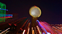 Dallas, TX - Reunion Tower Ball at Night