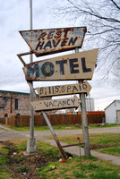 Afton, OK - Rest Haven Motel Sign