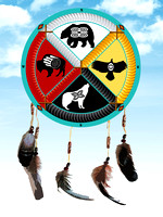 Medicine Wheel With Feathers