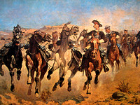Dismounted4th Troopers by Frederic Remington
