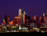 Dallas, TX - Skyline at Night