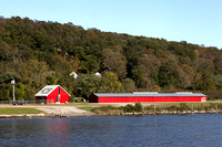 Connecticut River & Red Buildings