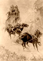 Rocky Mountain stage driving, Frederic Remington, 1904