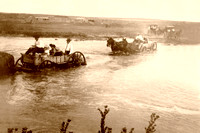 Fording the Cimarron River in Grant County - 1914