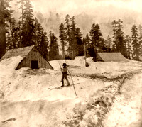Early Skiier in California, 1866