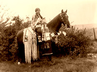 Cayuse woman in Oregon, 1910