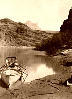 Colorado River, AZ - Powell Expedition Boat, 1872