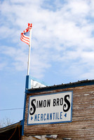 Roosevelt, TX - Simon Bros Mercantile Sign