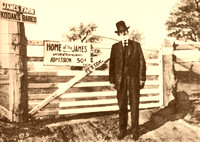 Frank James, outlaw, at family farm