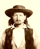 Bill Hickok,  lawman & gunfighter, 1858