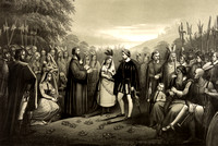 Powhatan - Pocahontas marries John Rolfe