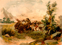 Buffalo Hunt in the Wild West, 1807