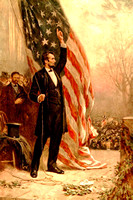 Abraham Lincoln and the American Flag