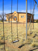 Ancho, NM - School Swings - 2