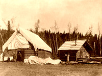 Alaska Homesteader cabins, early 1900s