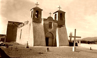 Ranchos de Taos, NM - Mission, vintage