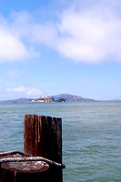 Alcatraz Isand, CA - From pier in San Francisco