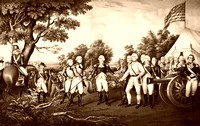Surrender of General Burgoyne at Saratoga NY