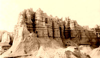 Badlands, SD - Statuary Buttes, 1896