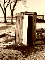 Spencer, IA - Outhouse, 1936