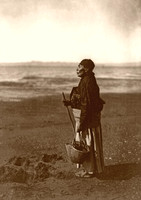 Chinook woman on the beach, 1910