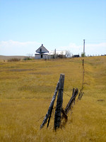 Okaton, SD - Fence & House