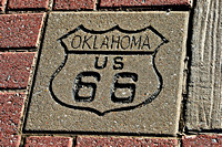 Bristow, OK - Route 66 Sidewalk Sign