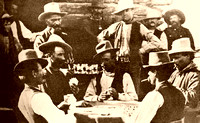 Burns, OR - Poker at Egan Saloon, 1882