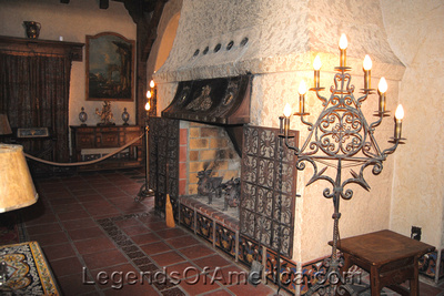 Scotty's Castle, CA - Great Hall Fireplace