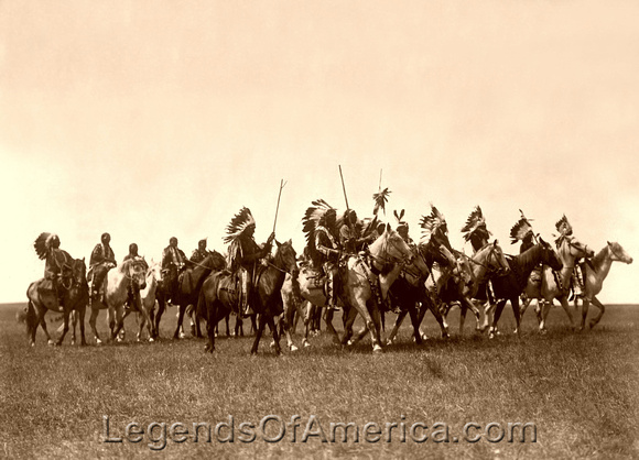 Brule Sioux - War Party, 1907
