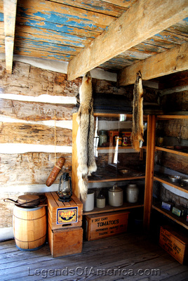 Wichita, KS - Old Cowtown - Heller Cabin Interior - 2
