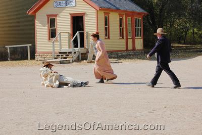 Wichita, KS - Old Cowtown - Shoot Out Cowboy Shot