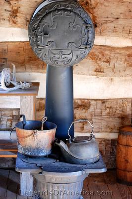 Wichita, KS - Old Cowtown - Heller Cabin Interior