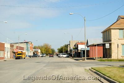 Burden, KS - Main Street