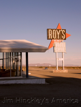 Amboy, CA - Roy's Cafe by Jim Hinkley
