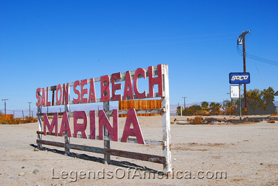 Salton Sea Beach, CA - Sign