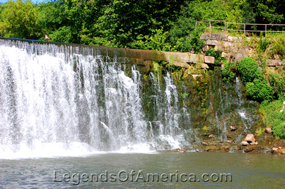 Lanesboro, MN - Root River Waterfall