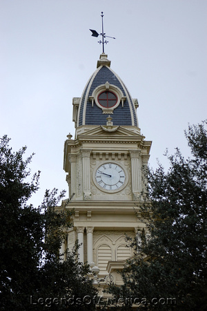 Goliad, TX - County Courthouse Clock Tower-da
