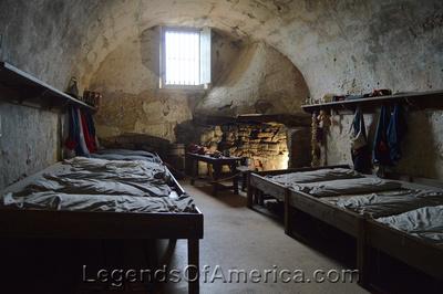 St. Augustine, FL - Castillo de San Marcos Soldier Quarters