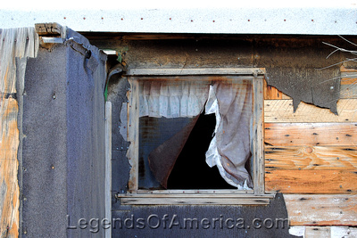 Bonnie Claire, NV -Shack Window