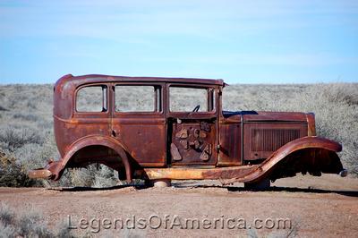 Painted Desert, AZ - Route 66 Car
