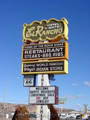 Gallup, NM - El Rancho Hotel Sign