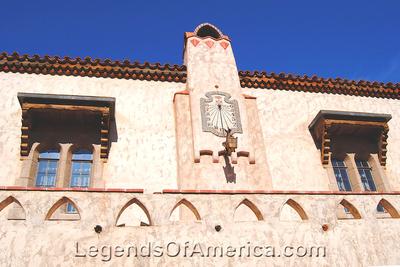 Scotty's Castle, CA - Main House Courtyard Clock